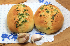 Garlic two buns Stock Photography