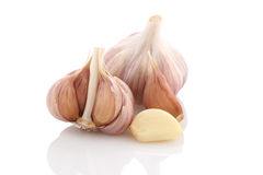 Garlic vegetable closeup isolated Stock Image