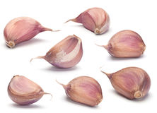 Garlic vegetable set Royalty Free Stock Photos