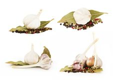 Garlic vegetables Stock Photos