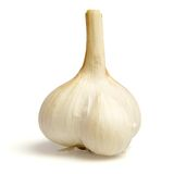 Garlic on white Stock Images