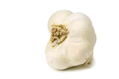 Garlic on white Stock Image