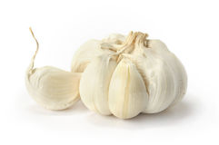Garlic on a white background Stock Image