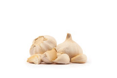 Garlic on a white background Stock Images