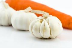 Garlic on white background Royalty Free Stock Photo