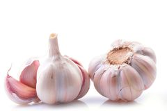 Garlic on a white background royalty free stock photography