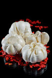 Garlick和通配玫瑰色种子 库存照片