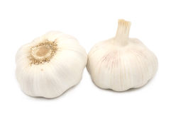 Garlics isolated on white Stock Photography