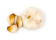 Garlics  on white Stock Image