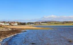 Garlieston Bay. The view across Garlieston Bay in Dumfries and Galloway, Southern Scotland stock photography