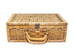 Garment bag. Woven rattan Luggage , Garment bag Royalty Free Stock Photo