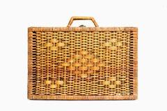 Garment bag. Woven rattan Luggage , Garment bag Stock Photo