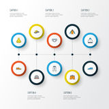 Garment Colorful Outline Icons Set. Collection Of Beanie, Man Footwear, Sneakers And Other Elements. Also Includes. Garment Colorful Outline Icons Set Stock Photos