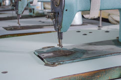 Garment factory with the old equipment royalty free stock image