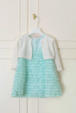 Child dress. Garment from hung blue child Royalty Free Stock Photos