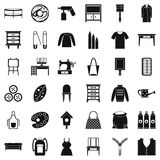 Garment icons set, simple style. Garment icons set. Simple set of 36 garment vector icons for web isolated on white background Stock Images