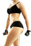 Garment woman practicing fitness Royalty Free Stock Images