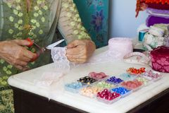 A garment woman. Royalty Free Stock Photos