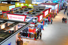 Garments pavilions at canton fair Stock Photo