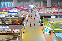 Garments pavilions at canton fair Stock Photos