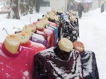Garments street retail Stock Image
