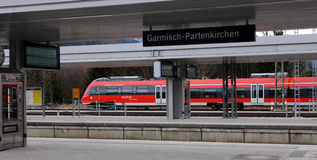 Garmich - Partenkirchen - at the station stock photo