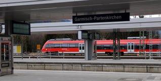 Garmich - Partenkirchen - at the station Stock Photo