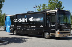 Garmin Barracuda Team Bus 2012 Tour of California Stock Photo