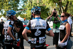 Garmin Cervelo Team with Soigneur Royalty Free Stock Photo
