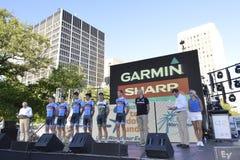 Garmin Fachmann-Radsportteam Lizenzfreie Stockfotos