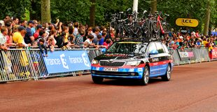 Garmin lag i Tour de France Arkivfoto