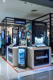 GARMIN sklep przy centralą Rama9, Bangkok, Tajlandia, Kwiecień 30, 2018 obrazy stock