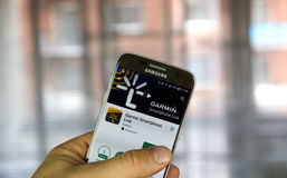 Garmin Spartphone Link app Royalty-vrije Stock Foto's
