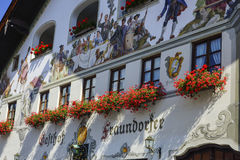 Garmisch-Partenkirchen, Baviera Fotografia Stock