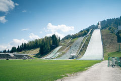Garmisch-Partenkirchen de trampolín Imagen de archivo libre de regalías