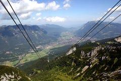 Garmisch-Partenkirchen in den deutschen Alpen Stockfotografie