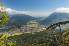 Garmisch-Partenkirchen, Germany Seen From Kreuzeck Stock Photo