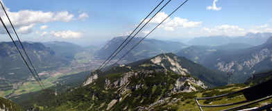 Garmisch-Partenkirchen, vu de l'Alpspitze Image libre de droits