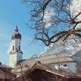 Garmisch-Partenkirchenstadt im Bayern, Deutschland Stockbild