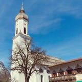 Garmisch-Partenkirchenstadtansicht in Bayern, OGermany Stockbild