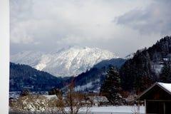 Garmisch Tal und Alpen Lizenzfreies Stockfoto