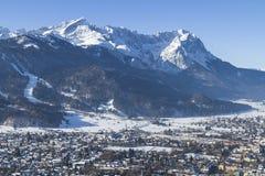 Garmisch and Zugspitze Stock Photos