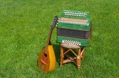 Garmonika e mandoline Foto de Stock Royalty Free