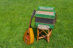 Garmonika and mandoline Royalty Free Stock Photo