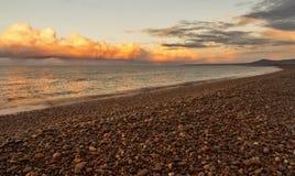 Garmouth solnedgång. arkivfoton