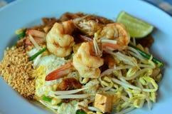 Garnaal stootkussen-Thai, het beroemde voedsel in Thailand Stock Afbeeldingen