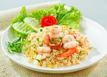 Garnalen gebraden rijst Royalty-vrije Stock Foto's