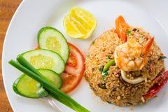 Garnalen gebraden rijst Royalty-vrije Stock Afbeelding