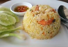 Garnalen gebraden rijst Royalty-vrije Stock Foto