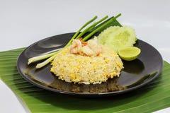 Garnalen gebraden rijst Stock Afbeelding